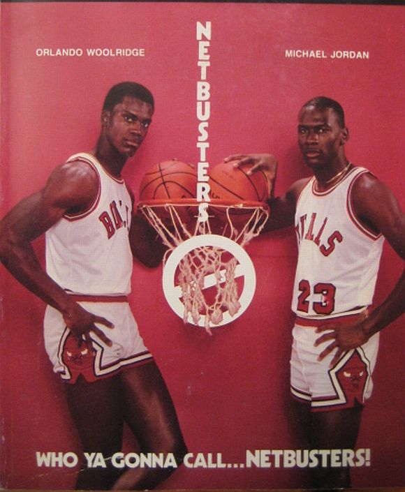 Orlando Woolridge i Michael Jordan