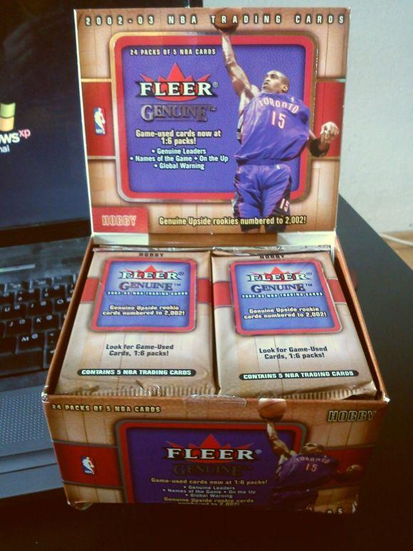 2002-03 Fleer Genuine box