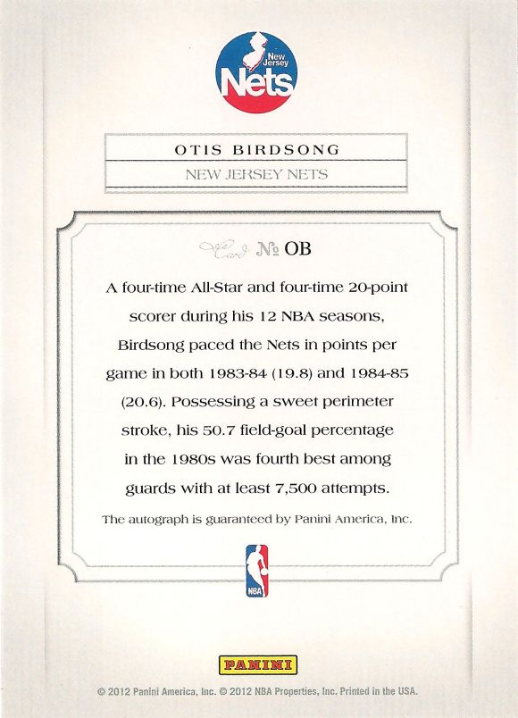 Otis Birdsong back