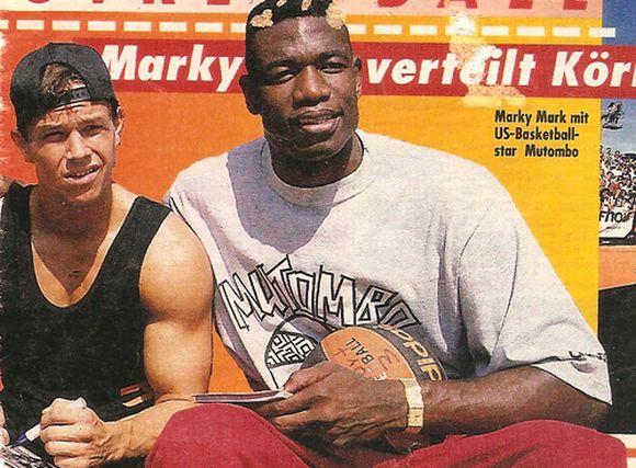 Dikembe Mutombo i Marky Mark