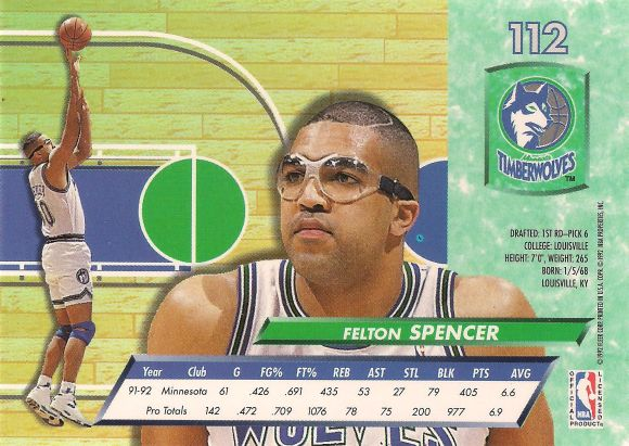 Felton Spencer back