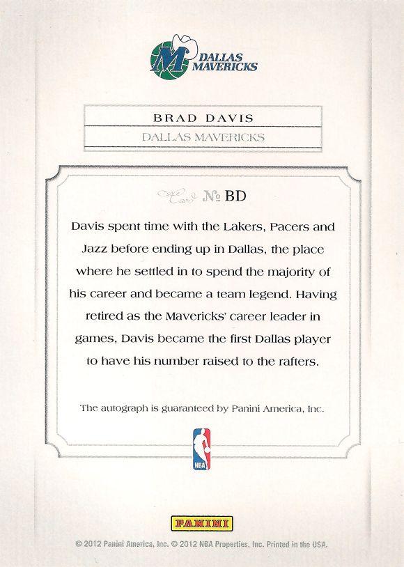 Brad Davis back